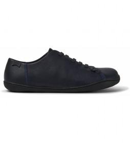 Zapatillas de piel Peu azul marino