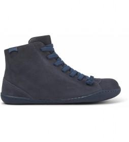 Zapatillas de piel Peu azul