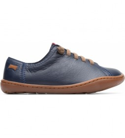 Zapatillas de piel Peu Cami marino