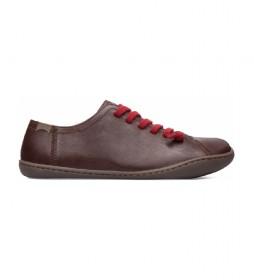 Zapatillas de piel Peu Cami marrón