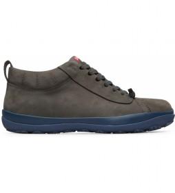 Zapatillas de piel Peu Pista GM gris, azul