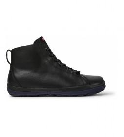 Zapatillas altas de piel Peu Pista negro