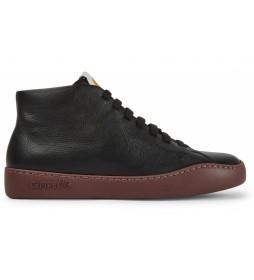 Zapatillas de piel K400422 negro