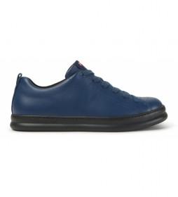 Zapatillas de piel Runner azul, negro