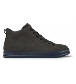 Zapatillas de piel Runner Four gris oscuro
