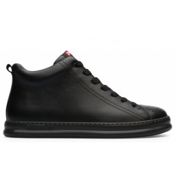 Zapatillas abotinadas piel Runner Four negro
