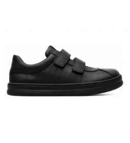 Zapatillas de piel Runner Four Kids negro