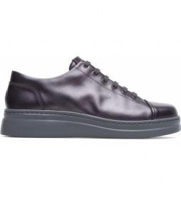 Zapatillas de piel Runner Up gris -Altura suela: 4,8cm-