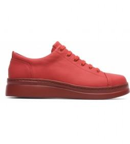 Zapatillas de piel Runner Up rojo -Altura suela: 4,8cm-