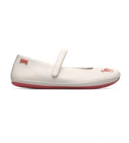 Sandalias de piel Twins blanco roto