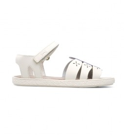 Sandalis de piel Twins beige
