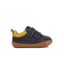 Zapatillas de piel Peu marino
