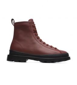 Botas de piel Brutus marrón rojizo