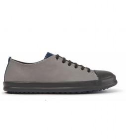 Zapatillas de piel TWS gris, azul