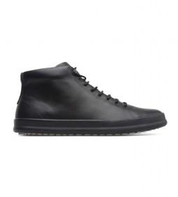 Zapatillas de piel Chasis negro
