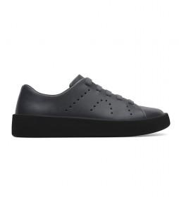 Zapatillas de piel Courb gris