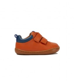 Zapatillas de piel Peu naranja