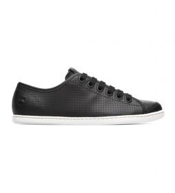 Zapatillas de piel Uno negro