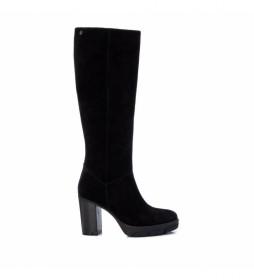Botas de piel 067956 negro -tacón 9 cm-