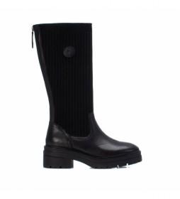 Botas de piel 068010 negro
