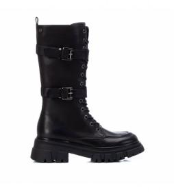 Botas de piel 068023 negro