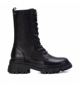 Botas de piel 068176 negro