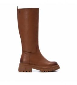 Botas de piel 068186 marrón