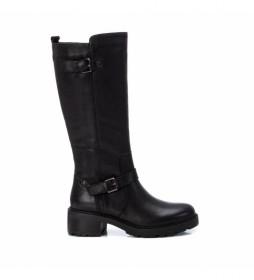 Botas de piel 068195 negro -Altura del tacón: 5cm-