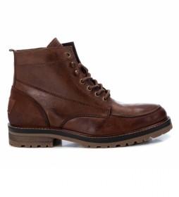 Botines de piel 067518 marrón