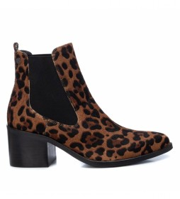 Botines de piel 067383 leopardo -Altura tacón: 6cm-