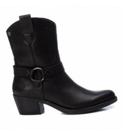 Botines de piel 067386 negro -altura tacón: 5cm-