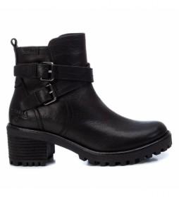 Botines de piel 067400 negro -Altura tacón: 6cm-