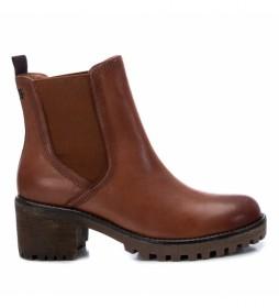 Botines de piel 067403 marrón -Altura tacón: 6cm-