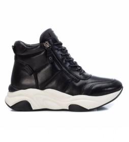 Zapatillas botín de piel 067969 negro