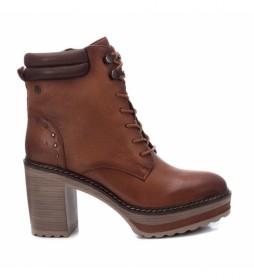 Botines de piel 67397 marrón -Altura tacón: 9cm-