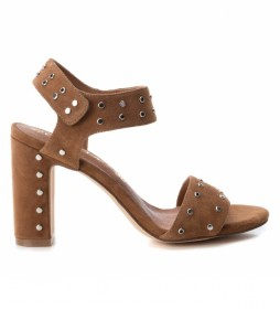 Sandalias de piel 066630 camel -Altura tacón: 10cm-