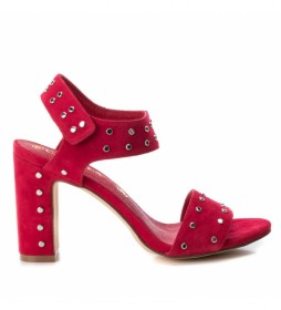 Sandalias de piel 066630 rojo -Altura tacón: 10cm-