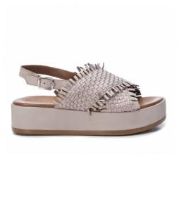 Sandalias de piel 067298 blanco