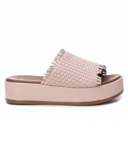 Sandalias de piel 067299 nude