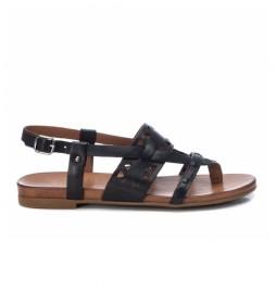 Sandalias de piel 067774 negro