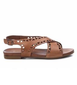 Sandalia de piel 067775 marrón