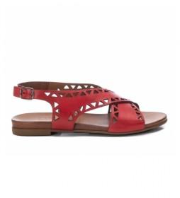 Sandalias de piel 067775 rojo