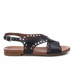 Sandalias de piel 067775 negro