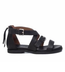 Sandalia de piel 067781 negro