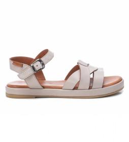 Sandalia de piel 067831 blanco