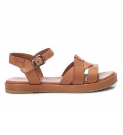Sandalia de piel 067831 marrón