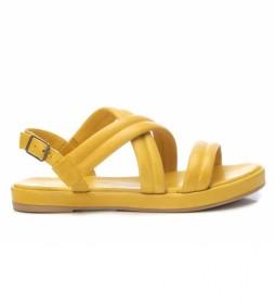 Sandalias de piel 067856 amarillo