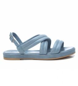 Sandalias de piel 067856 azul