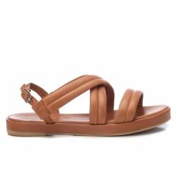 Sandalias de piel 067856 camel