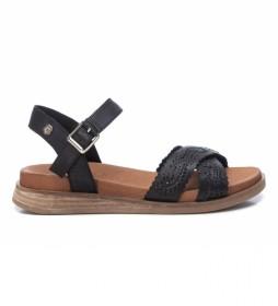 Sandalias de piel 067858 negro